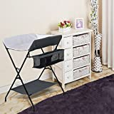 Custpromo Baby Storage Folding Diaper Changing Table (Gray)