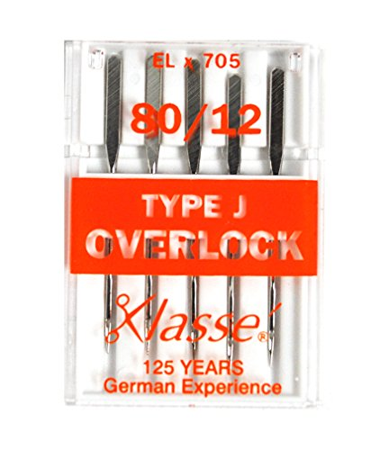 Klasse Serger Type J Overlock Size 80/12 Needles 5 Pack
