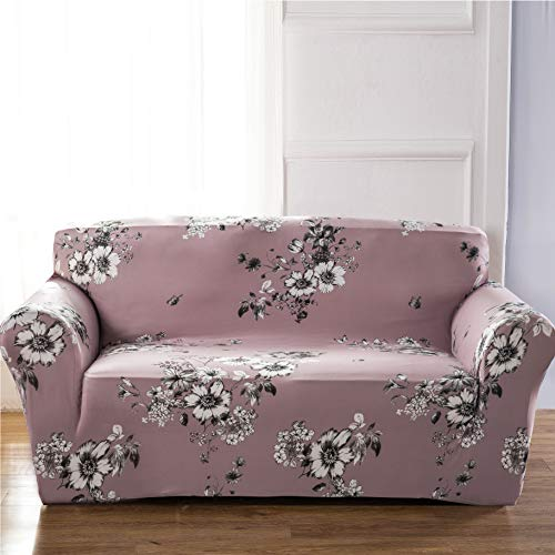Floral Slipcover - Sobibo Spandex Fabric Stretch Couch Cover Slipcover for 3 Cushion 70
