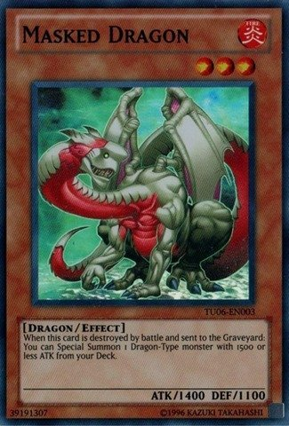 Masked Dragon - Yu-Gi-Oh! - Masked Dragon (TU06-EN003) - Turbo Pack 6 - Promo Edition - Super Rare