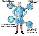 Blue Lab Coat. Unisex Disposable Polyethylene