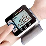 Oguine Automatic Wrist Blood Pressure Cuff Monitor Pulse Oximeters, Blood Pressure Monitor Upper Arm, LCD Digital Monitor for Adult, Elderly,Pregnancy Home Use, (99 Reading Memory)