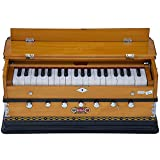 Harmonium Musical Instrument, BINA No. 8, 7 Stops, 3 1/4 Octaves, Coupler, Tuned To A400, Double Reed, Natural Color, Book, Nylon Bag (PDI-DJF)
