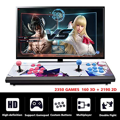 ElementDigital Arcade Game Console 1080P 3D & 2D Games 2350 in 1 Pandora's Box 2 Players Arcade Machine with Arcade Joystick Support Expand 6000+ Games by ElementDigital (Image #1)