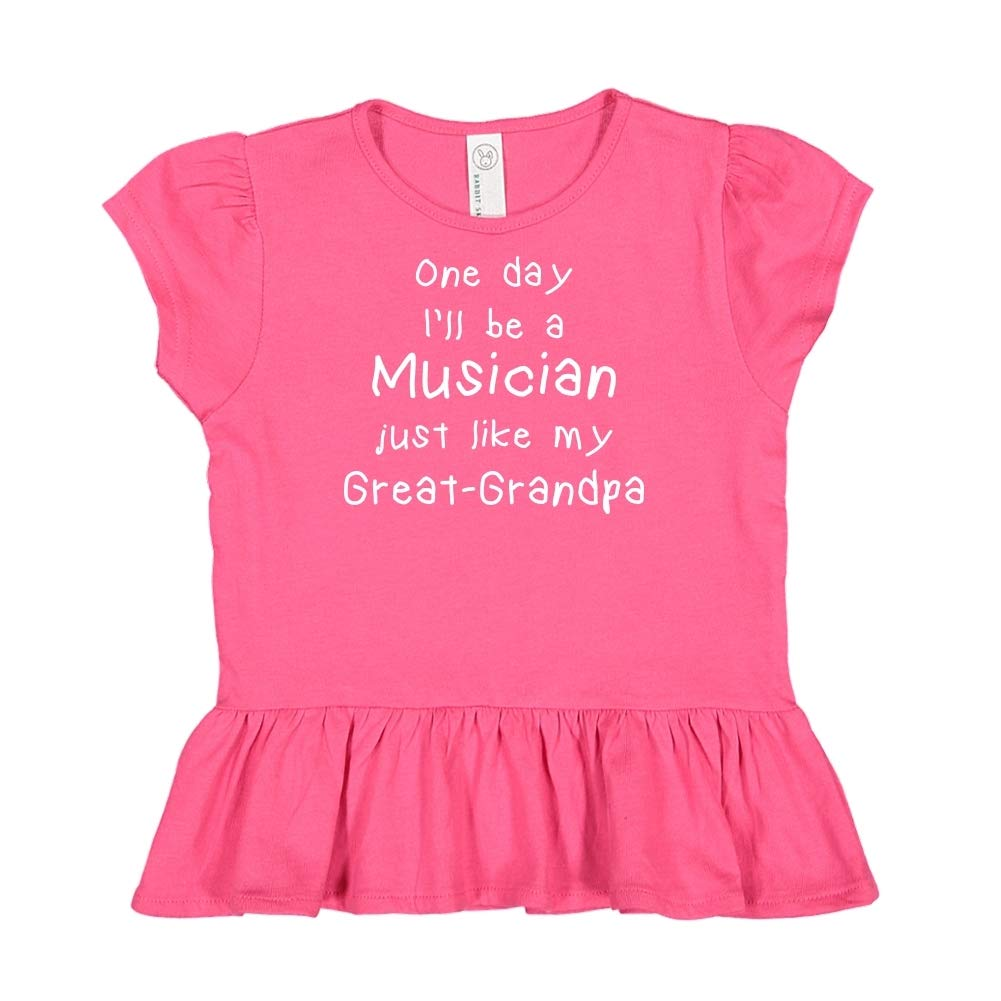 One Day Ill Be A Musician Just Like My Great-Grandpa Toddler//Kids Ruffle T-Shirt