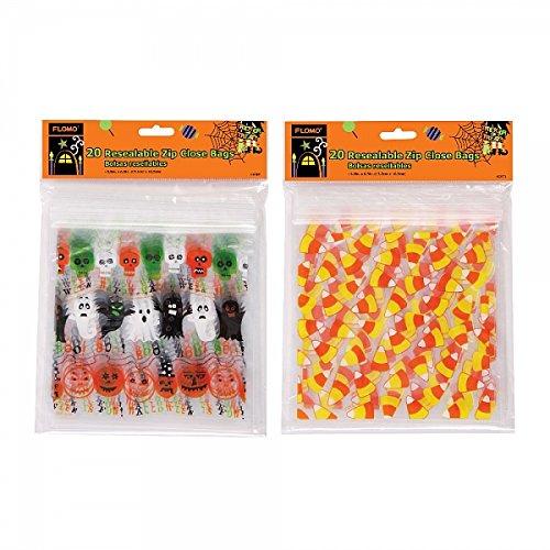 FLOMO Halloween Resealable Zipper Bags (2 -