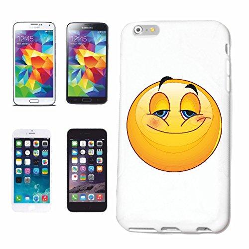 """cas de téléphone iPhone 6+ Plus """"FUNNY SMILEY L'AIR HOLDING """"SMILEYS SMILIES ANDROID IPHONE EMOTICONS IOS grin VISAGE EMOTICON APP"""" Hard Case Cover Téléphone Covers Smart Cover pour Apple iPhone en bl"""
