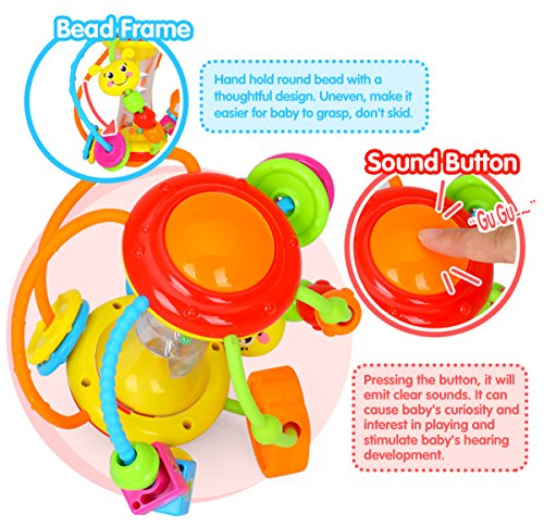 Coolecool Healthy Ball Baby Toys 3 6 Months Baby Rattle Educational Learning Activity Sensory Toys for Infants Babies (Multicolored) by Coolecool (Image #6)