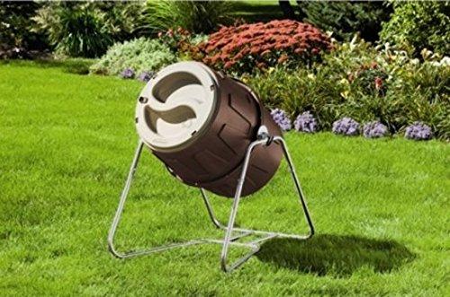 Suncast 6.5 cu ft Tumbling Composter (Wooden Compost Bin)