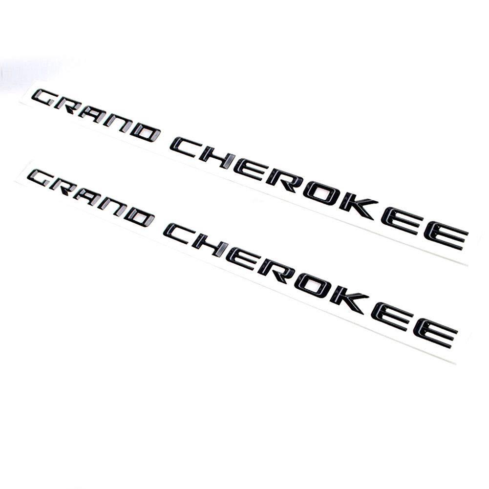 Vestian 2 Pair Black Grand Cherokee Altitude EMBLEMS Badge Nameplate Matte Black