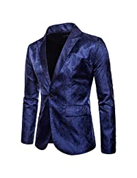 Men's Casual Slim Fit Suit Business Long Sleeve Blazer Coat Jacket Suit Tops