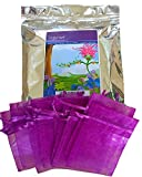 Zziggysgal 1/2 Lb Dried French Lavender with 10 Drawstring Sachets, Factory Sealed in Triple Foil Re-closable Bag