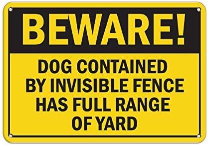 ¡Ten cuidado con las marcas! Perro contenido por valla invisible completa gama de metal de aluminio para patio.