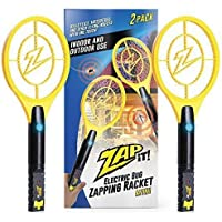 ZAP IT! Bug Zapper Twin Pack - Rechargeable Mosquito, Fly Killer and Bug Zapper Racket - 4,000 Volt