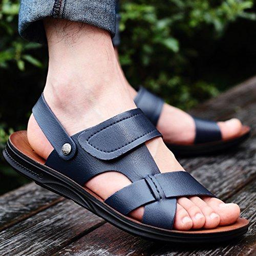 Black Summer Marée Les Pantoufles Chaussures De Plage, Occasionnel, Hommes, Non Glissants.,Eu36Cn37,Bleu