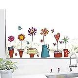 1 Set Cute Flower Kitchen Butterflies Wall Stickers Living Room Bedroom Princess Nursery Leading Popular Dream Animals World Moon Star Ocean Sun Vinyl Window Mural Art Decor