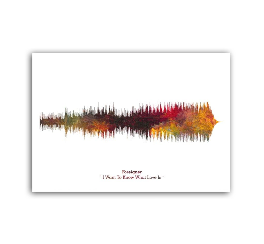 Lab No. 4 Foreigner I Want to Know What Love Is Song Soundwave Lyrics Music Print: Amazon.es: Hogar