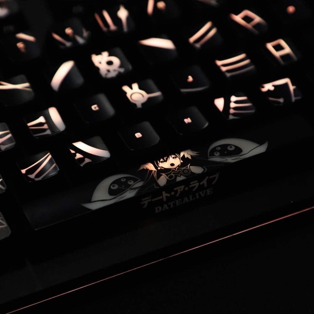 Casquettes de clavier 1 jeu de haut-rétroéclairés Keycaps Clavier mécanique Keycaps for K70 K95 casquettes clavier mécanique (Color : For standard layout) For Standard Layout