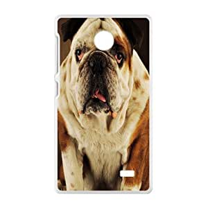 Nokia Lumia X Case, Nokia Lumia X Cover -Pug Dog Custom Hard Mobile Phone Shell Protector for Nokia Lumia X
