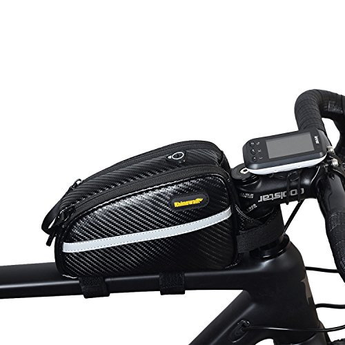 Waterproof Bike Top Tube Bag Front Frame Bag Double Zipper Design Bicycle Bag Professional Bicycle Accessories