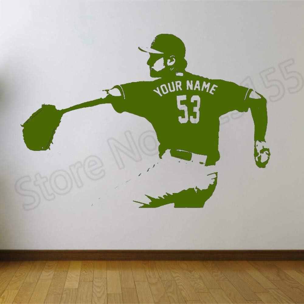 xingbuxin Wall Decal Jugador de béisbol extraíble Nombre ...
