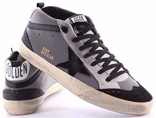 Zapatos Hombres Sneakers Alta GOLDEN GOOSE G27U634.D4 Black Gray Reflex Mid Star
