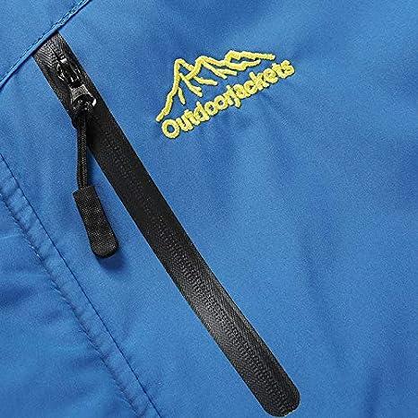 Ideal in Cold Weather Lightweight Winter Jacket Microfibre Filler Season Mens Jacket Water Resistant Rain Coat Padded Mens Warm Jacket