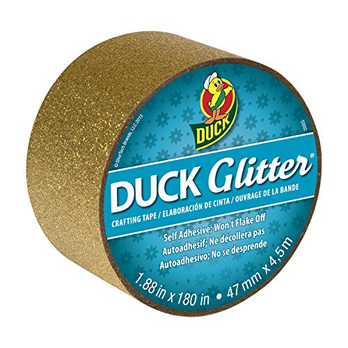 Duck Brand Glitter Crafting Tape, 1.88-Inch x 5-Yard Roll, Gold ()
