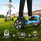 FirstDirect Warrior 8.5 inch All Terrain Off Road Hoverboard with Music Speakers and LED Lights, UL2272 Certified Self Balancing...