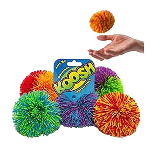 Koosh Ball Soft Active Fun Toy - 1x Random Coloured Koosh (Spaghetti Ball)