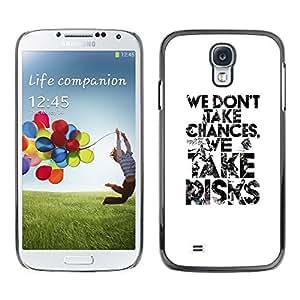 SKCASE Center / Funda Carcasa - Tome Blanca Riesgos Inspiring;;;;;;;; - Samsung Galaxy S4