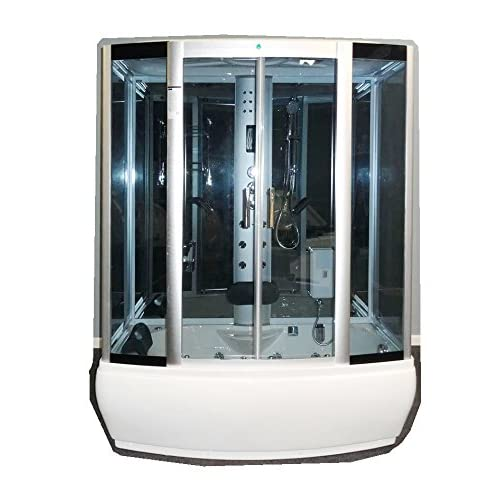50%OFF L90S07WSHD - Heavy Duty Steam Shower with Whirlpool Tub and Bluetooth Audio