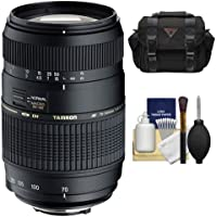 Tamron AF 70-300mm F/4-5.6 Di LD Macro Lens + Case + Accessory Kit for Sony Alpha DSLR SLT-A37, A57, A58, A65, A77, A99 Digital SLR Cameras