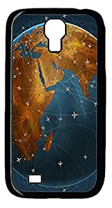 Samsung Galaxy S4 I9500 Case and Cover -Global flight PC case Cover for Samsung Galaxy S4 I9500-Black