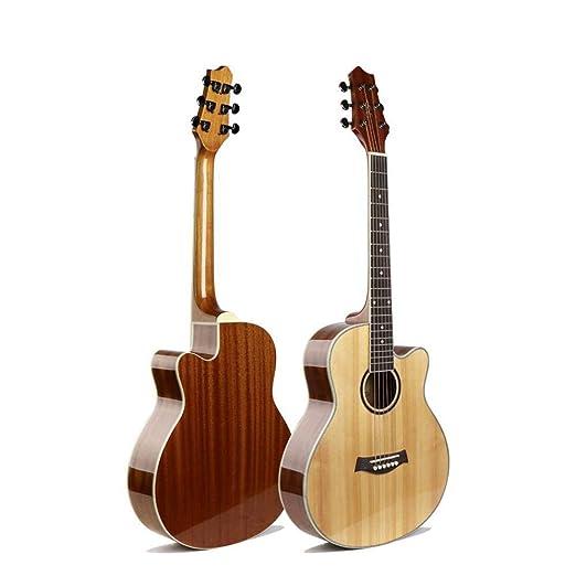 Hjyi Guitarra clásica,Guitarra de Viaje Spruce Veneer Guitar ...