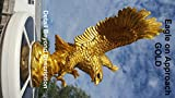 PolePalUSA Eagle in Flight Flagpole Topper GOLD Finial Ball For Sale