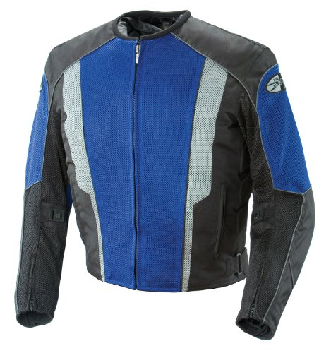 Joe Rocket Phoenix 5.0 Men's Mesh Motorcycle Riding Jacket (Blue/Black, Large) (851-4204)