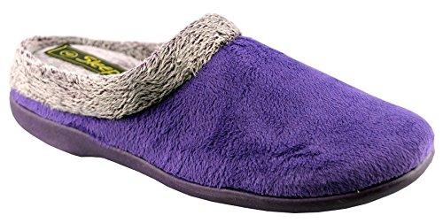 Pantofole Da Donna In Pelle Sintetica Viola