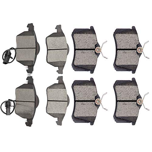 OCPTY Ceramic Brakes Pads, Quick Stop Front Rear Brake Pad fit for 1999-2005 Audi A4,1999-2005 Audi A4 Quattro,2000-2004 Audi A6,2000-2004 Audi A6 Quattro,1990-2005 Volkswagen Passat (Audi A4 Rear Brakes)