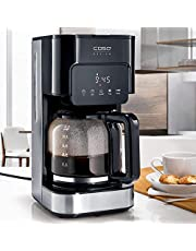 CASO Coffee Taste and Style koffiezetapparaat met permanent filter, 1,5 l, optimale zettemperatuur 92-96 °C, druppelstop, geoptimaliseerde zetkop, roestvrij staal