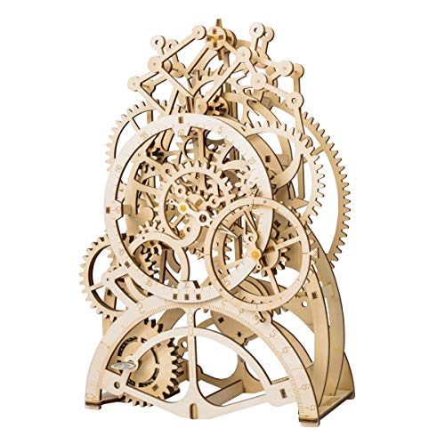 ROKR 3D Self-Assembly Puzzle Model-Wooden Building Sets-Adult Craft Set-Brain Teaser Educational and Engineering Toy for Teens and Adults 14 Years and up (Pendulum Clock) ()
