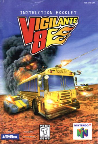 Vigilante 8 N64 Instruction Booklet (Nintendo 64 Manual Only - NO GAME) [Pamphlet only - NO GAME INCLUDED] (Nintendo 64 Game Manuals)