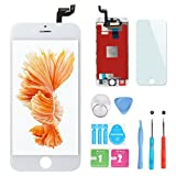 HXSZ LCD Touch Screen Digitizer Frame Assembly Full Set LCD Touch Screen Replacement for iPhone 6S(White)