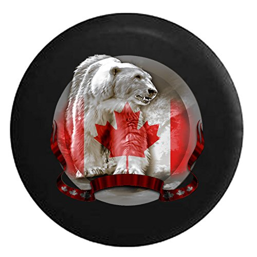 canada-canadian-polar-bear-in-icy-northspare-tire-cover-black-33-in
