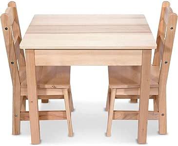 Melissa & Doug Tables & Chairs 3-Piece Set - Natural