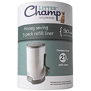 Litter Champ 3-Pack Refill, Green 19