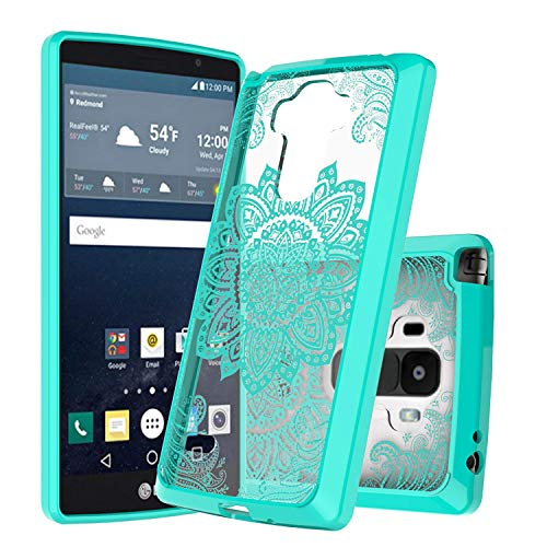 LG G Stylo case,LG G4 Stylus case,LG LS770 case,LG G Stylo H631 case, LG G Stylo MS631 case,Ayoo [Drop Protection][Shock Absorption] Soft TPU+Hard PC Bumper Protective Case for LG LS770-YK Mint