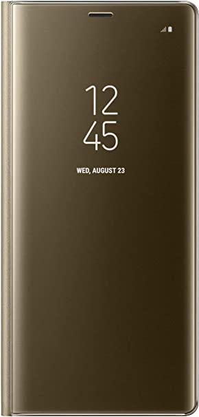 Samsung Note 8 Clear View Standing Cover - Funda para Samsung Galaxy Note 8, color oro