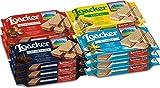 Loacker, Variety Pack, Hazelnut Lemon Vanilla Chocolate Wafers, 1.59oz (Pack of 12)