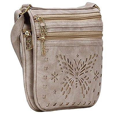 Aadhunik Libaas Stylish Butterfly Cut Work Sling Bags (Handbag) for Womens Girls
